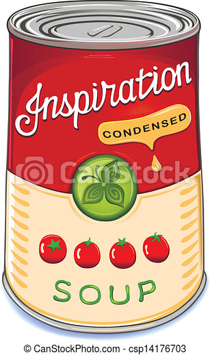 Una lata de sopa de tomate condensada - csp14176703
