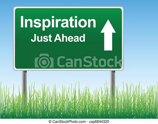 Inspiration road sign. - csp6844320