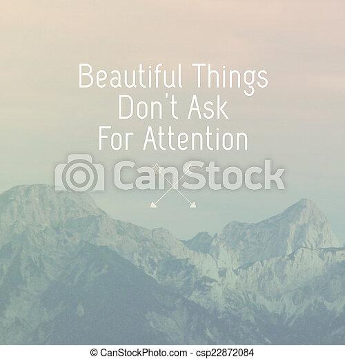 Inspirational Motivation Quote On Natural Landscape Background   Csp22872084