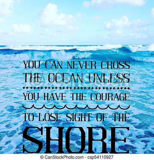 Inspirational Ocean Image Inspirational Quote On Scenic Summer Blue
