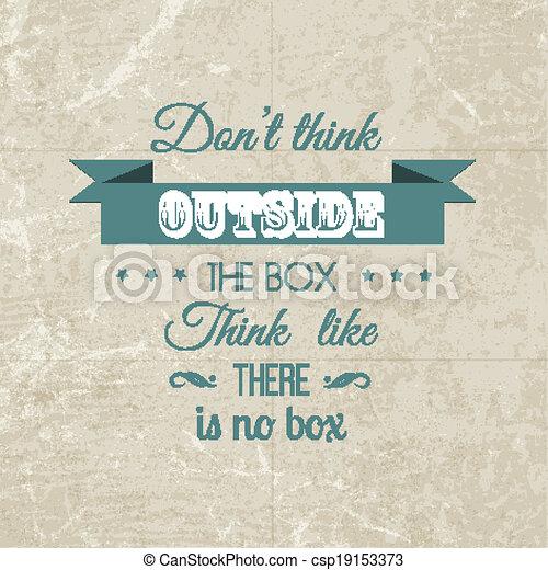 Inspirational quote background - csp19153373