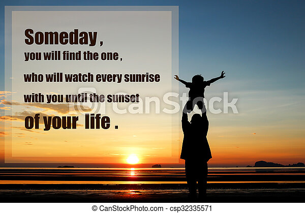 Inspirational Quote On Sunset Background