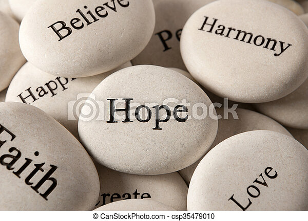Inspirational stones - Hope - csp35479010
