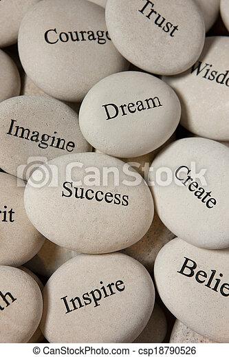 Inspirational stones - csp18790526