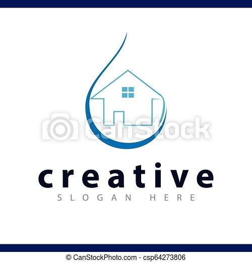 La plantilla de vector de logotipo en casa - csp64273806