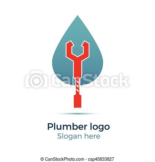 Logo de la compañía de fontanería - csp45833827