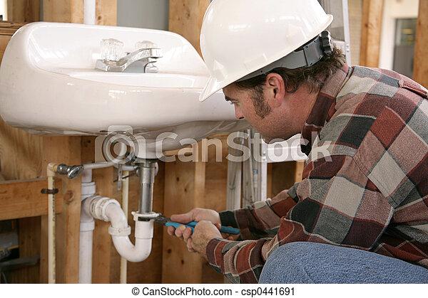 Trabajo de fontanería de construcción - csp0441691