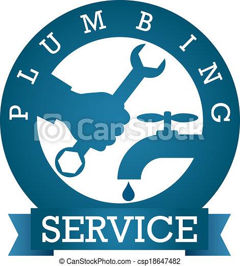 Vector de servicio de fontanería - csp18647482
