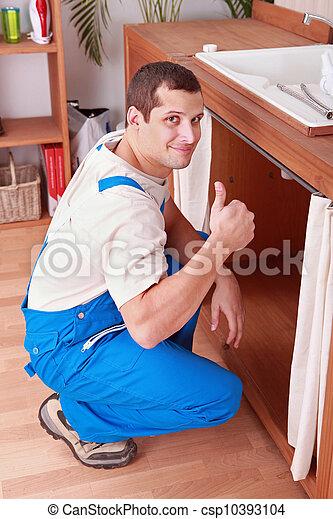 installatiebedrijf, badkamer - csp10393104