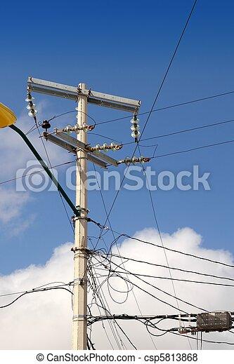 Installation, elektrisch, verdrahtung, elektrisch, unordentlich ...
