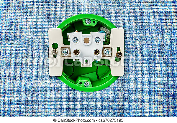 Installation Of Electrical Socket In House Wiring System Installation Of Electrical Contact Points At Home Inside There Is