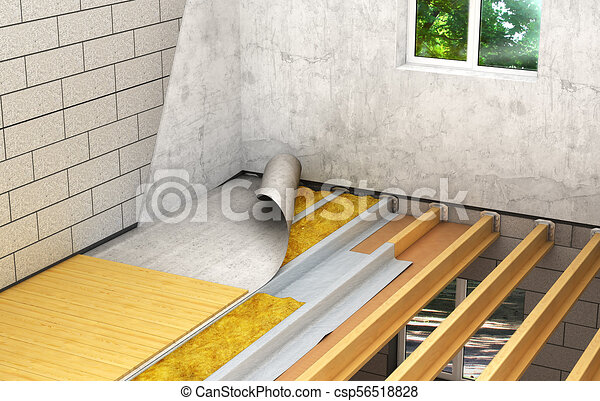 Installation Of Wooden Floors Between Floors Detailed