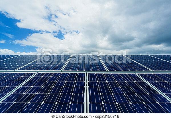 installation, solar panel - csp23150716