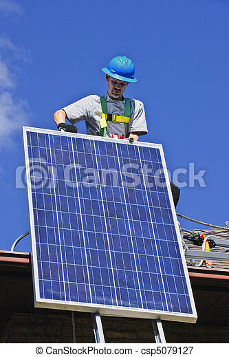 installation, solar panel - csp5079127