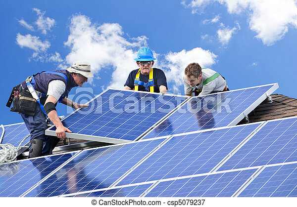 installation, solar panel - csp5079237