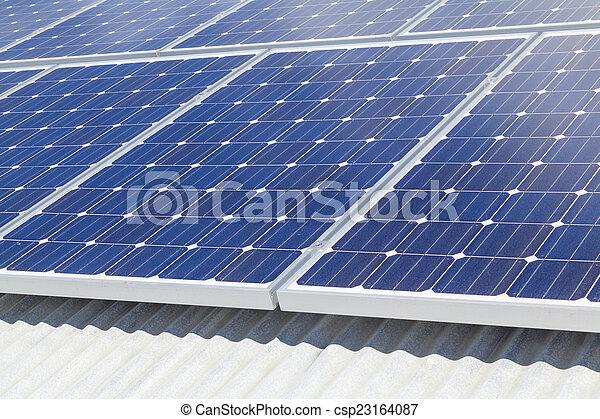 installation, solar panel - csp23164087