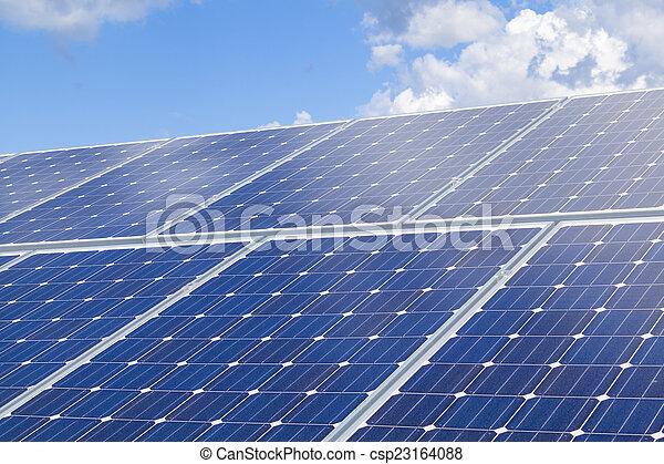 installation, solar panel - csp23164088