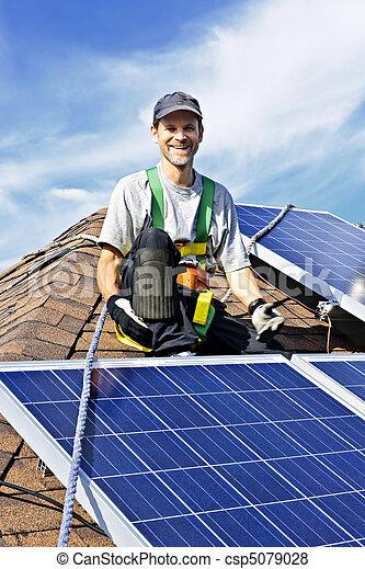 installation, solar panel - csp5079028