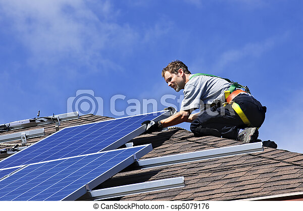 installation, solar panel - csp5079176