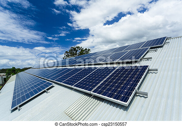 installation, solar panel - csp23150557
