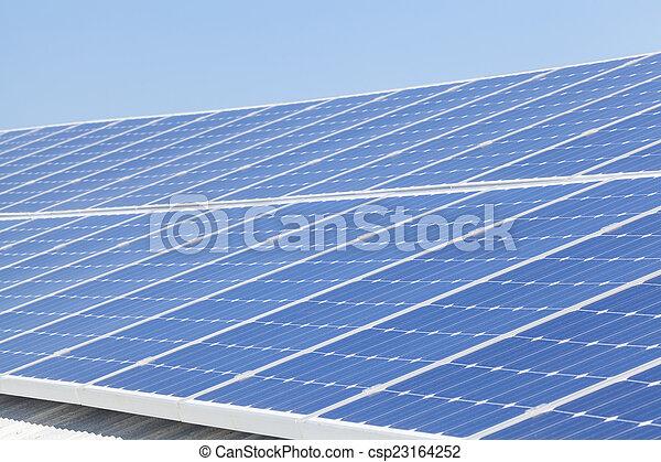 installation, solar panel - csp23164252