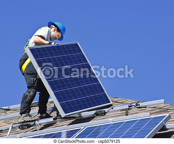 installation, solar panel - csp5079125