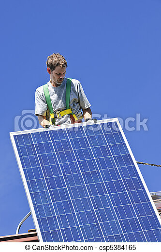 installation, solar panel - csp5384165