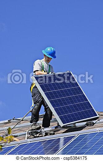 installation, solar panel - csp5384175