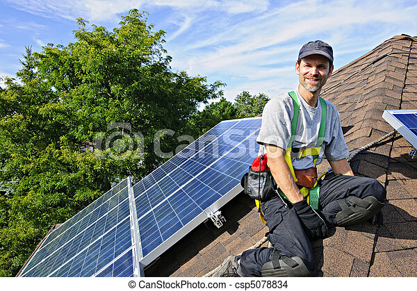installation, solar panel - csp5078834