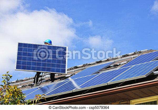 installation, solar panel - csp5079364