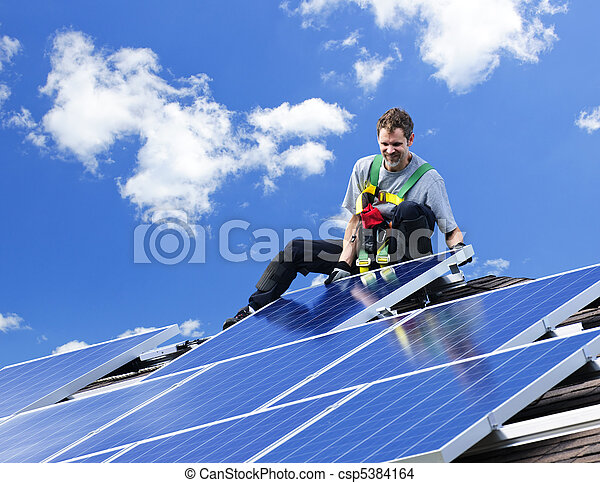 installation, solar panel - csp5384164