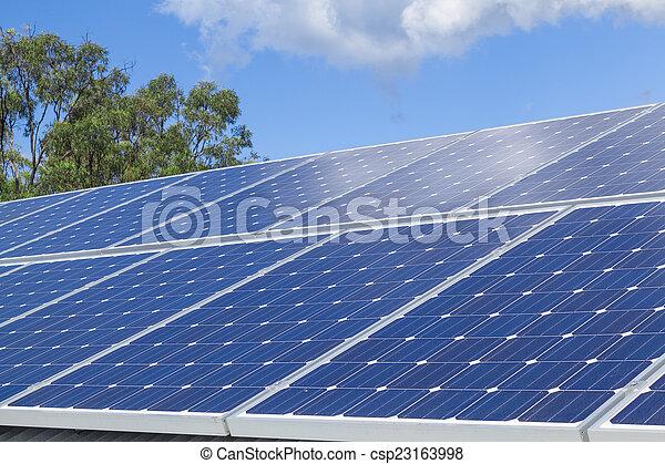 installation, solar panel - csp23163998