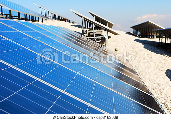 installation, solar panel - csp3163089