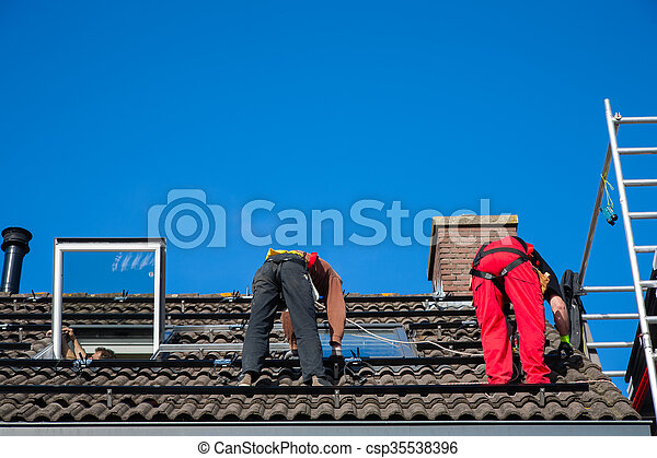 installation, solar panel - csp35538396