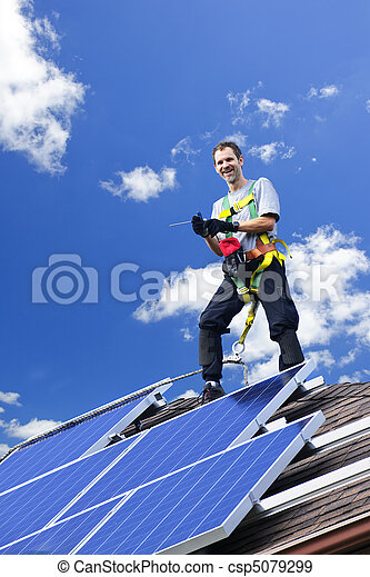 installation, solar panel - csp5079299