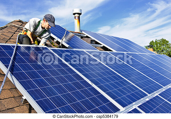 installation, solar panel - csp5384179