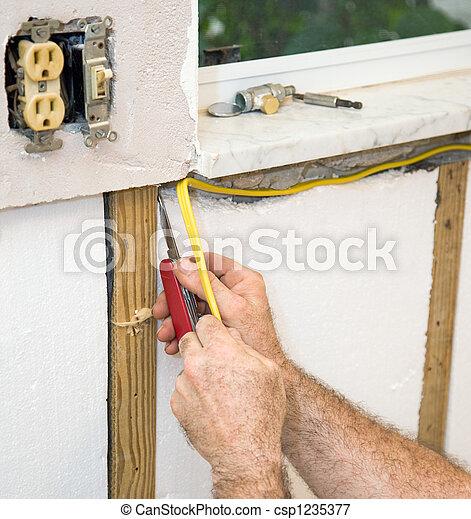 Installing Electric Wiring - csp1235377