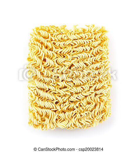 Instant noodles isolated on white background - csp20023814
