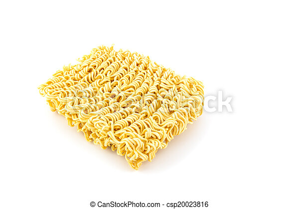 Instant noodles isolated on white background - csp20023816