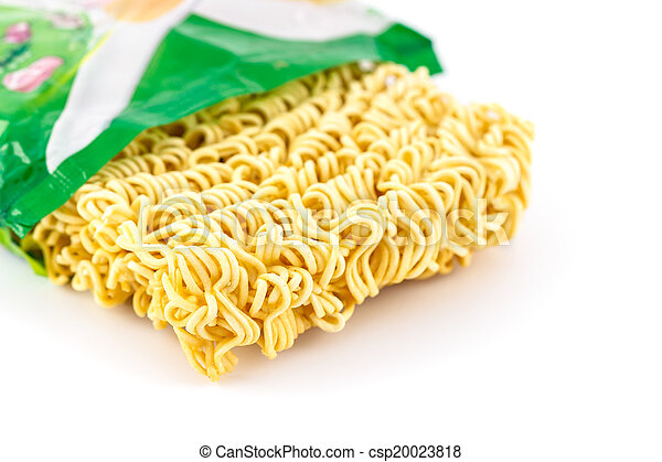 Instant noodles isolated on white background - csp20023818