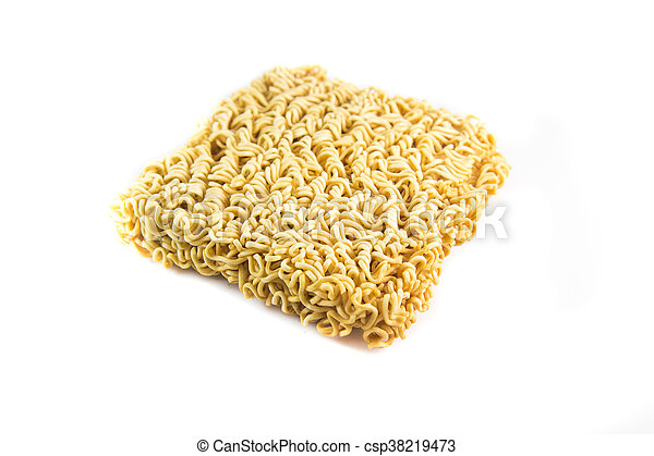 Instant noodles, isolated on white background - csp38219473