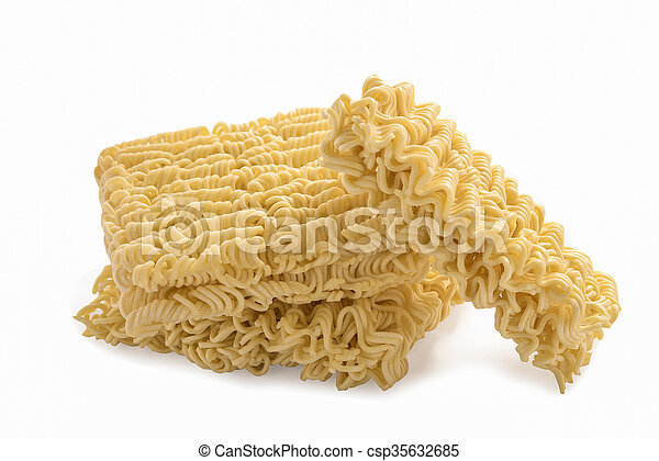 Instant noodles, isolated on white background - csp35632685