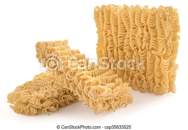 Instant noodles, isolated on white background - csp35633525