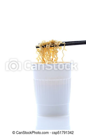 Instant noodles isolated on white background - csp51791342