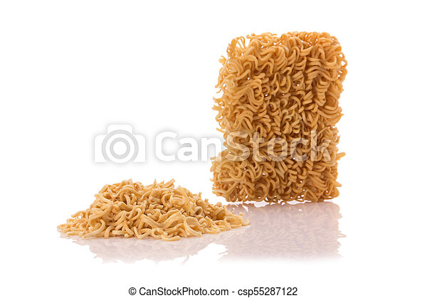Instant noodles, isolated on white background - csp55287122
