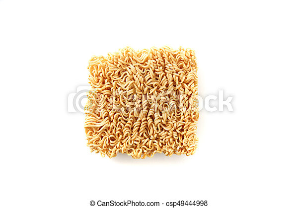 Instant noodles isolated on white background - csp49444998