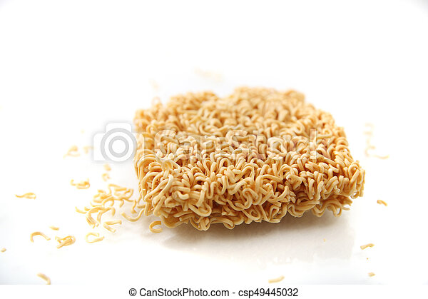Instant noodles isolated on white background - csp49445032