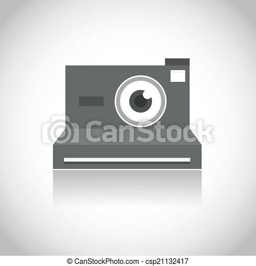 instant photo camera lens eye - csp21132417