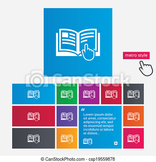 Instruction sign icon. Manual book symbol. - csp19559878