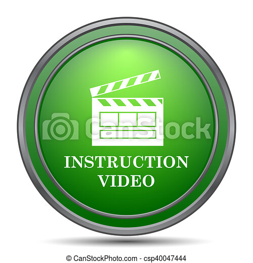 Instruction video icon - csp40047444